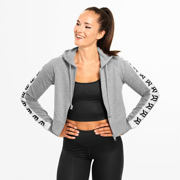 Better Bodies Vesey Cropped Hood - Grey Melange