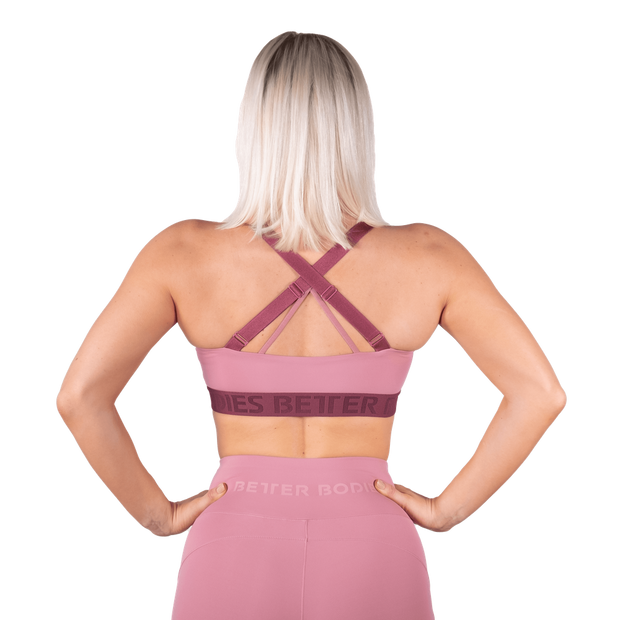Better Bodies Waverly Sports Bra - Heather Pink