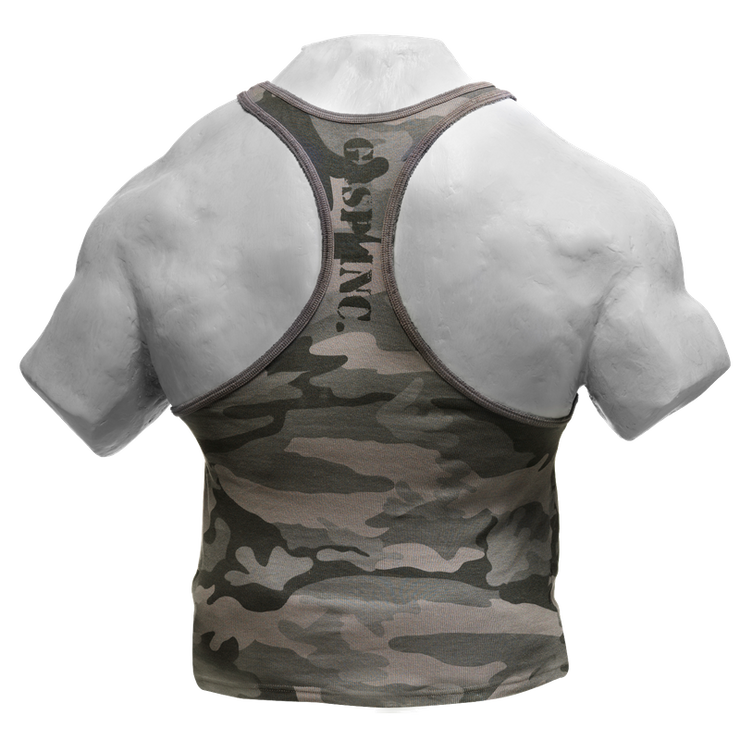 GASP Utility Rib T-Back - Grey Camoprint