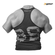 GASP Ribbed T-Back - Anthracite Melange