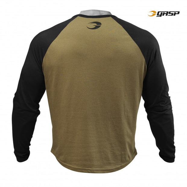 GASP Raglan Long Sleeve Tee - Military