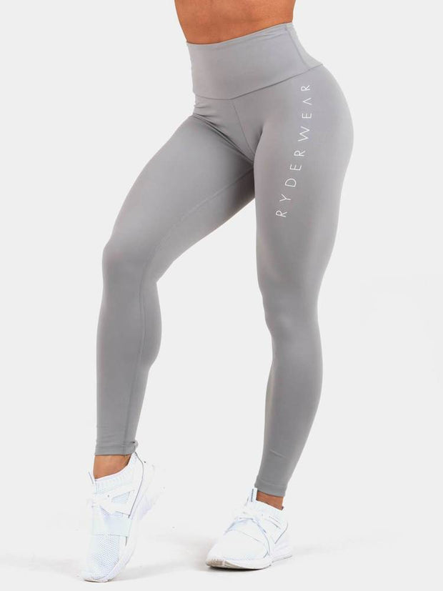 Ryderwear Staples Scrunch Bum Leggings - Grey