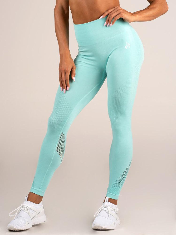 Ryderwear Seamless Tights - Aqua Marl