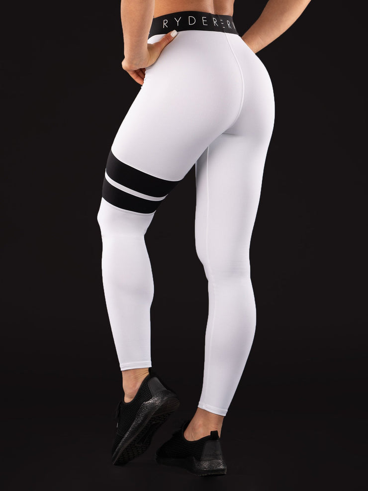 Ryderwear Block Banded Tights Limited - White