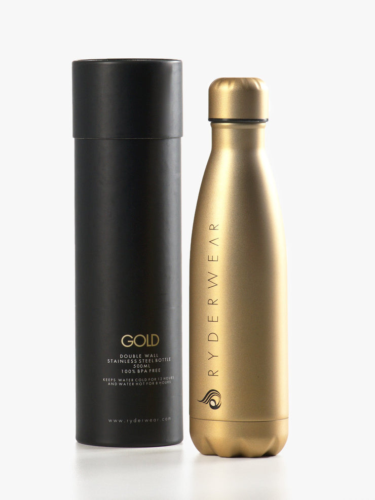 Ryderwear Drink Bottle - Gold
