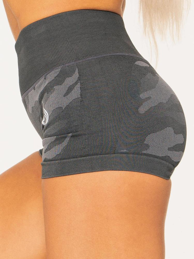 Ryderwear Camo Seamless Booty Shorts - Charcoal Camo