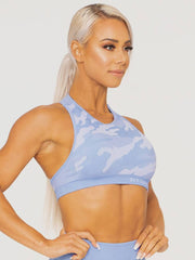 Ryderwear Camo Seamless Sports Bra - Blue Camo