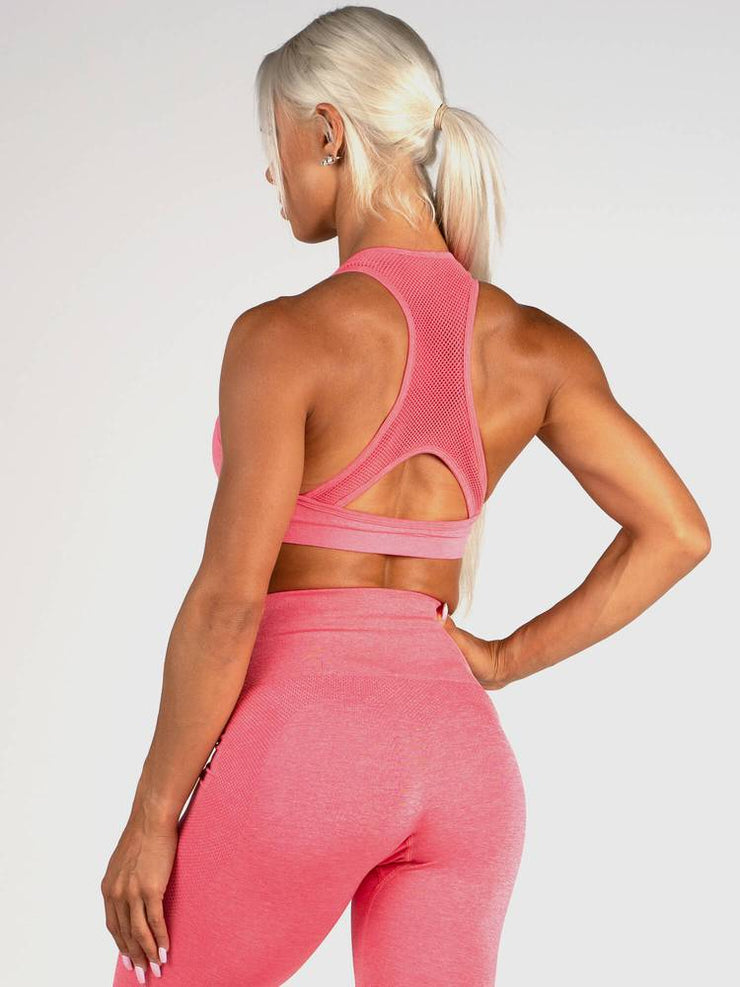 Ryderwear Seamless Sports Bra - Coral Marl