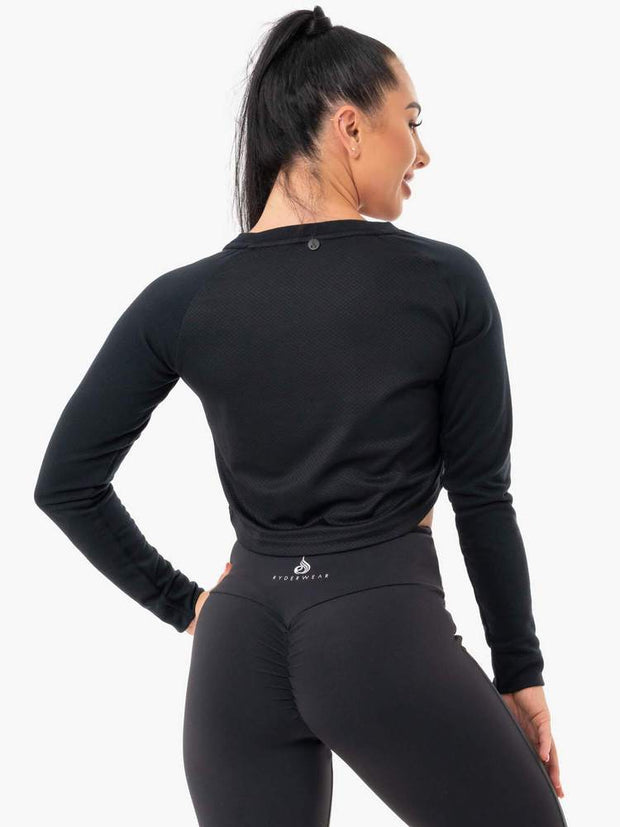 Ryderwear Staples Cropped Sweater - Black