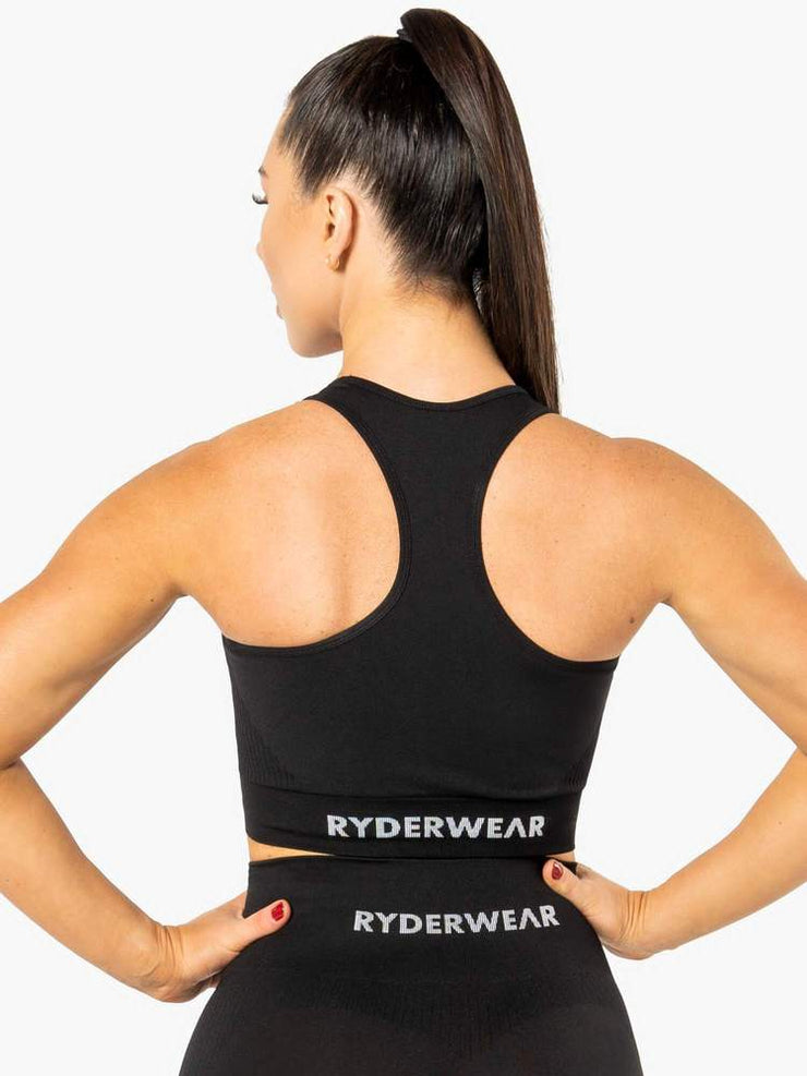 Ryderwear Electra Seamless Crop - Black