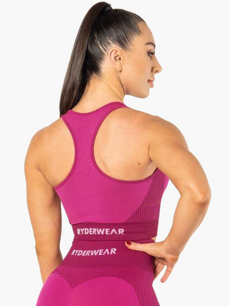 Ryderwear Electra Seamless Crop - Electric Pink