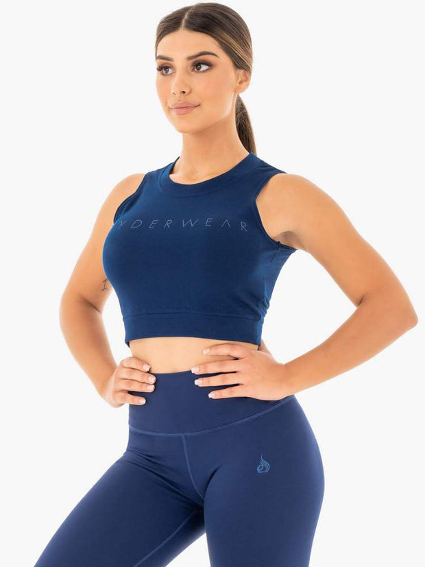 Ryderwear Motion Crop Top - Navy