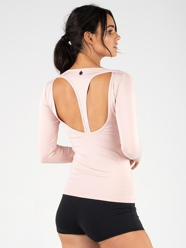 Ryderwear Cut Out Long Sleeve Top - Nude