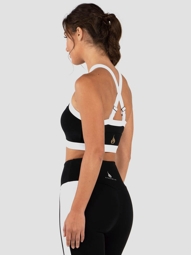 Ryderwear Empire Mesh Sports Bra - Black