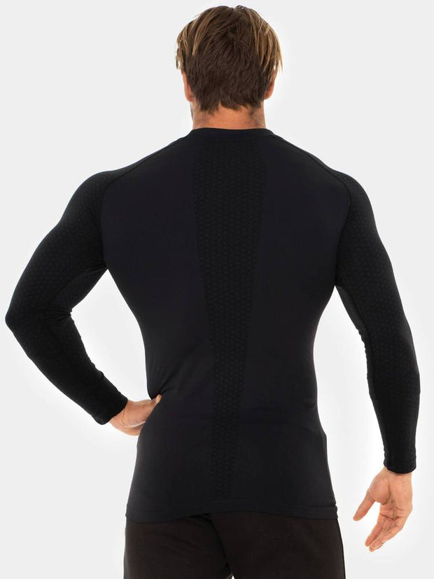 Ryderwear Geo Seamless Long Sleeve Top - Black