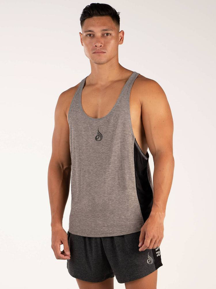 Ryderwear BSX Stringer T-Back - Grey Marle