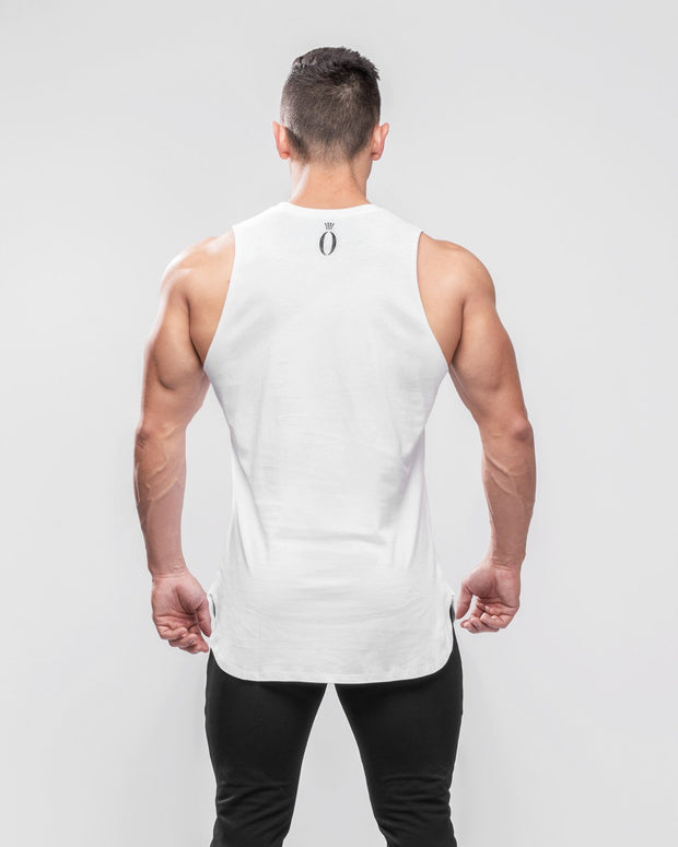 HERA x HERO Boxx Cut-Off Tank Top - White