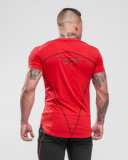 HERA x HERO Tri T-Shirt - Red & Black