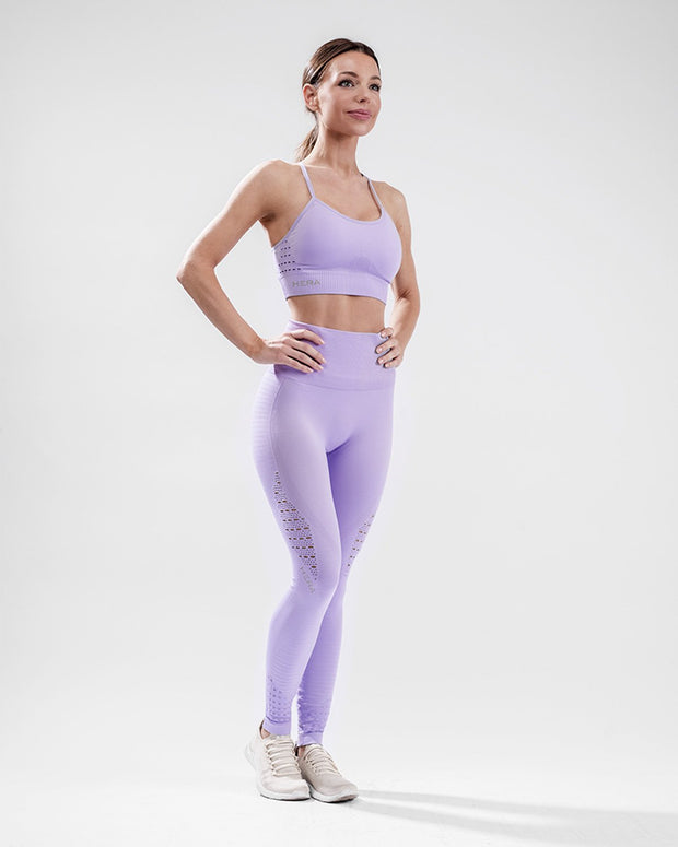 HERA x HERO XO Seamless Sports Bra - Purple