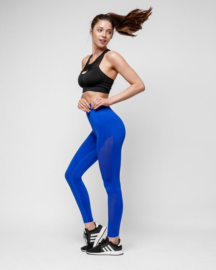 HERA x HERO Le Papillon Seamless Leggings - Blue