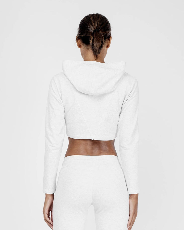 HERA x HERO Lea Crop Hoodie - Light Grey