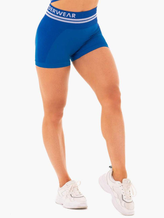 Ryderwear Freestyle Seamless High Waisted Shorts - Blue