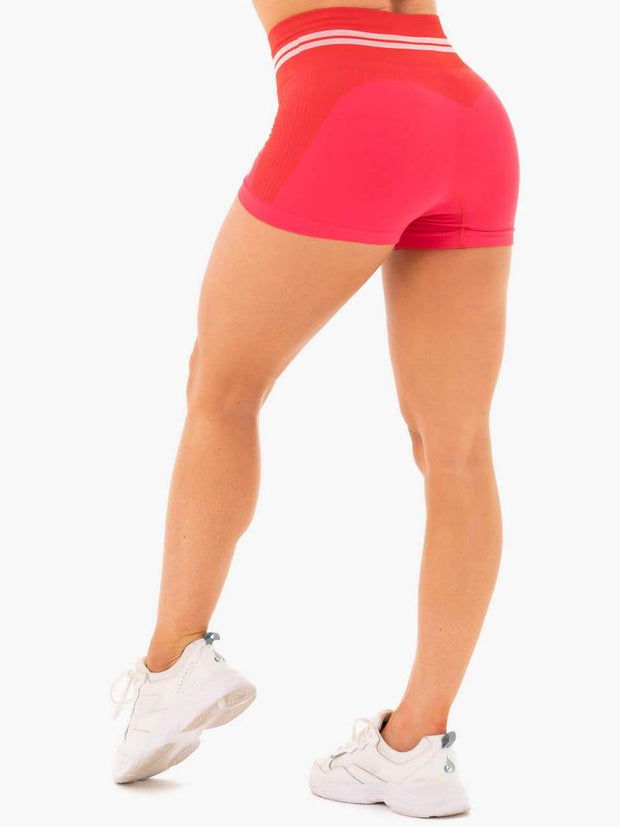 Ryderwear Freestyle Seamless High Waisted Shorts - Red