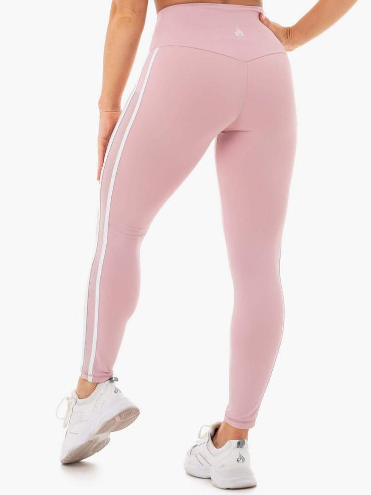 Ryderwear Collide High Waisted Leggings - Dusty Pink