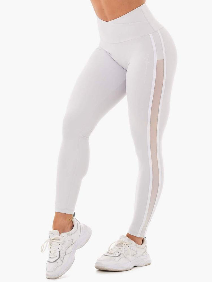 Ryderwear Collide High Waisted Leggings - Pebble Grey