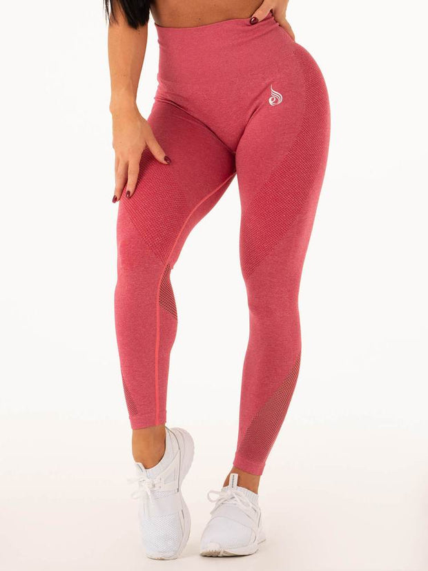 Ryderwear Seamless Tights - Hot Pink Marl