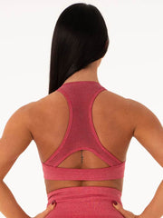 Ryderwear Seamless Sports Bra - Hot Pink Marl