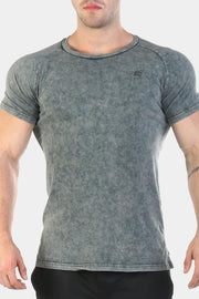 Jed North Haze Marble Vintage Tee - Grey