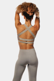 Jed North Cobra Crossback Sports Bra - Grey