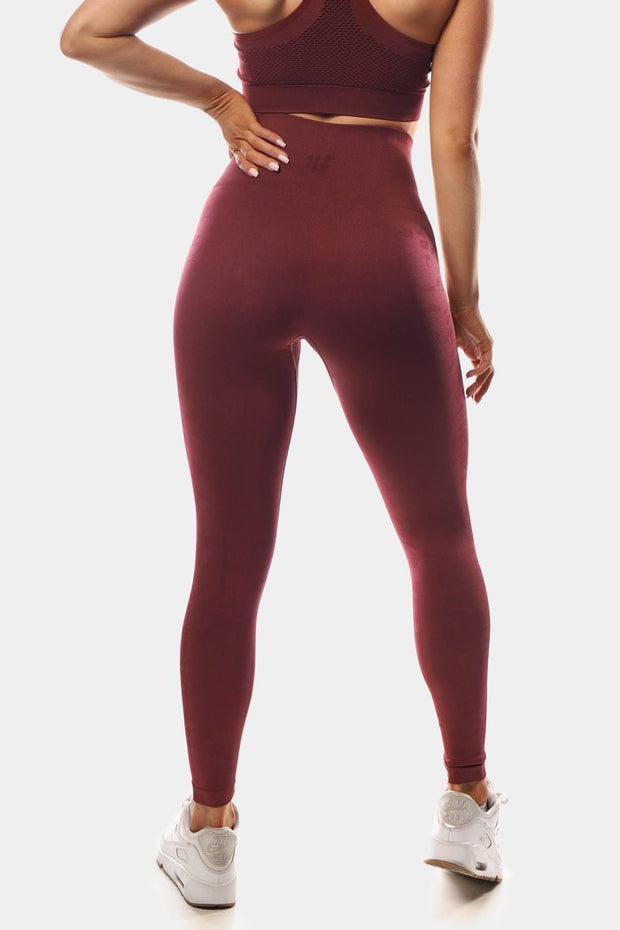Jed North Tetris Leggings - Maroon