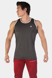 Jed North Retro Fitted Tank - Dark Grey