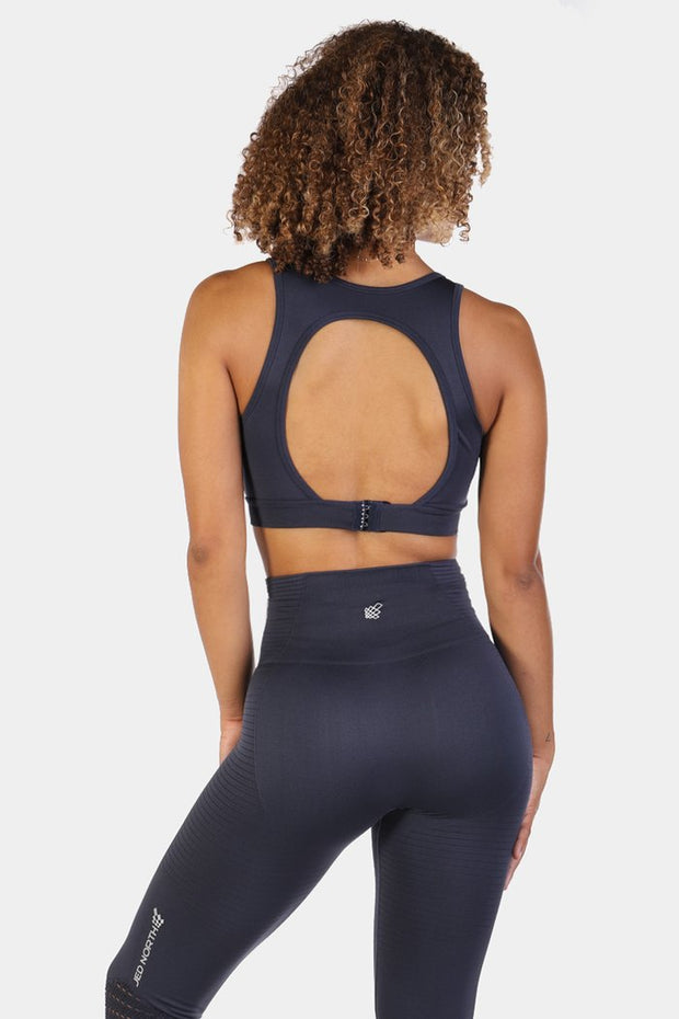 Jed North Luxe Sports Bra - Navy