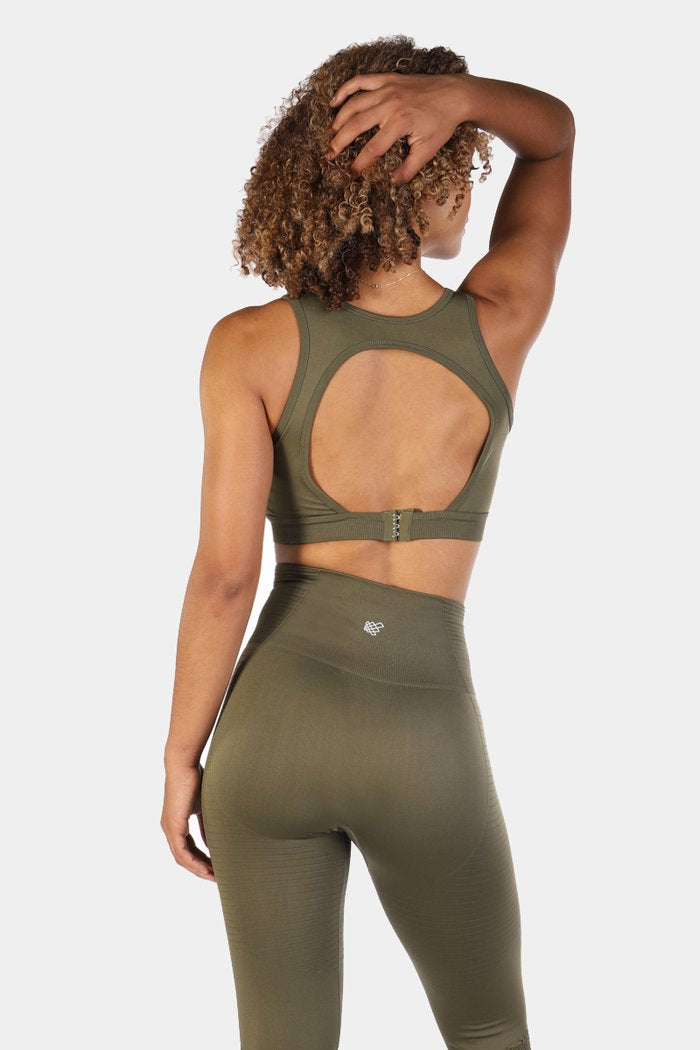 Jed North Luxe Sports Bra - Olive Green