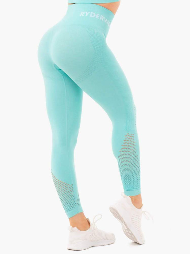 Ryderwear Seamless Staples Leggings - Aqua Marl