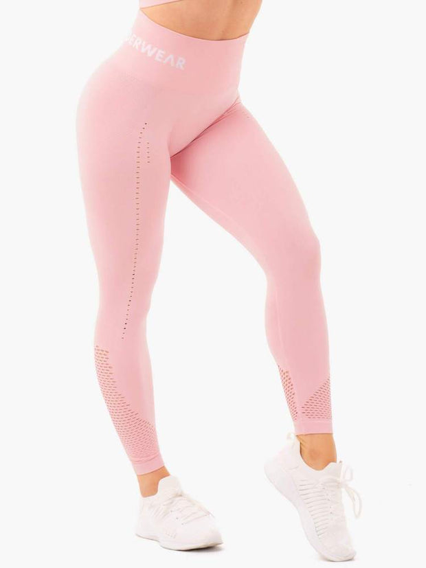Ryderwear Seamless Staples Leggings - Baby Pink Marl