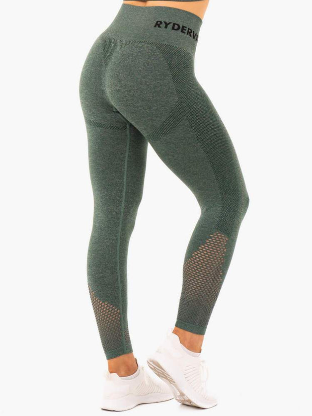 Ryderwear Seamless Staples Leggings - Forest Green Marl