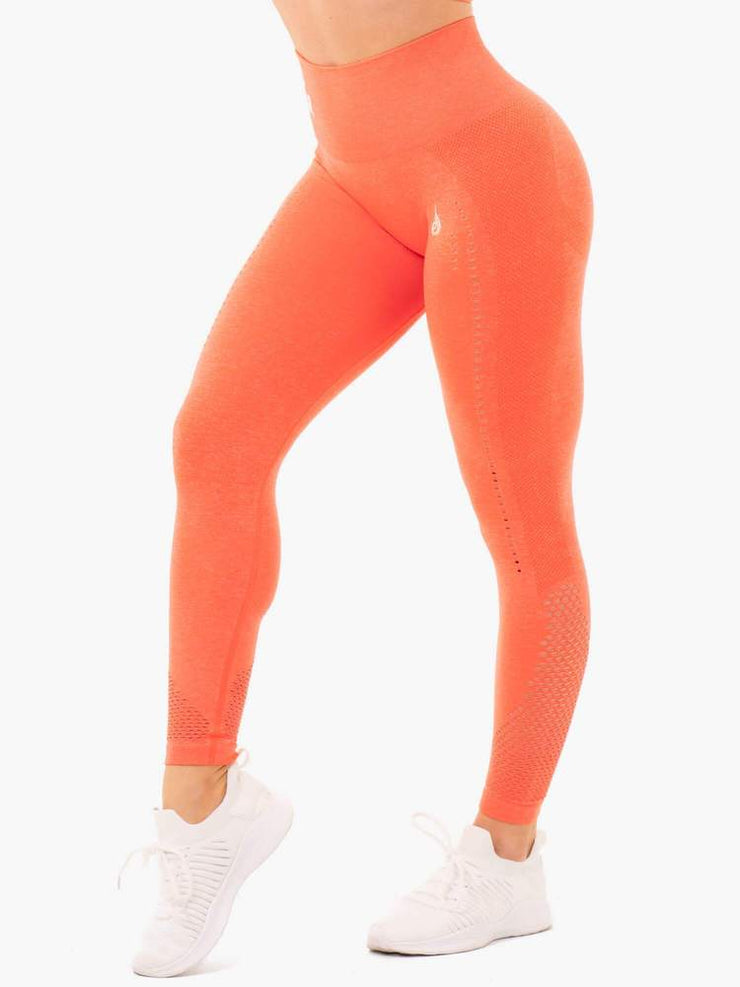 Ryderwear Seamless Staples Leggings - Orange Marl