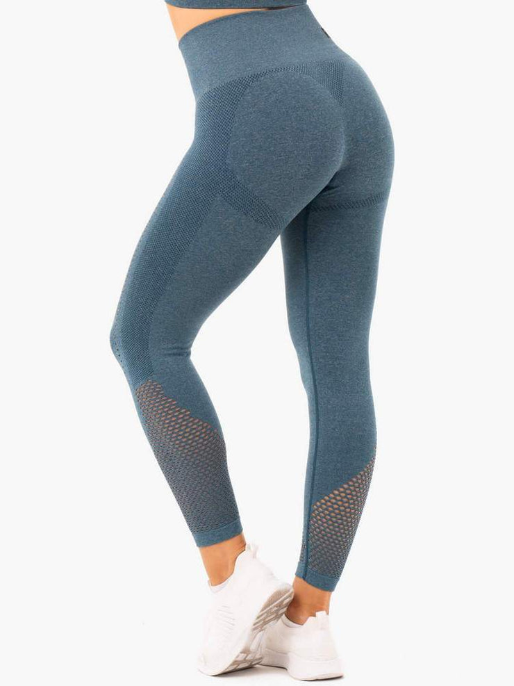 Ryderwear Seamless Staples Leggings - Teal Marl