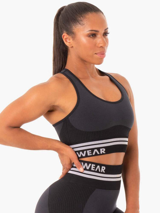 Ryderwear Freestyle Seamless Longline Sports Bra - Black