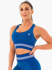 Ryderwear Freestyle Seamless Longline Sports Bra - Blue
