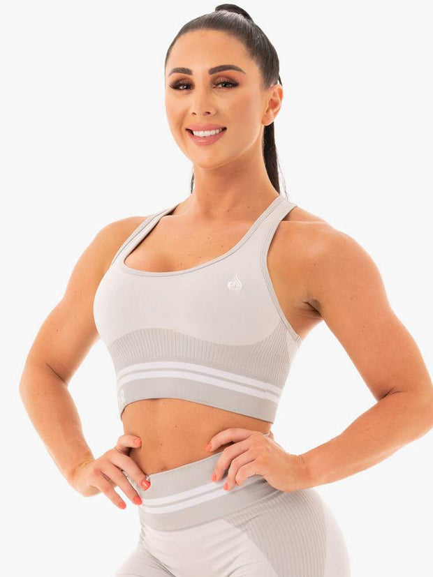 Ryderwear Freestyle Seamless Longline Sports Bra - Grey