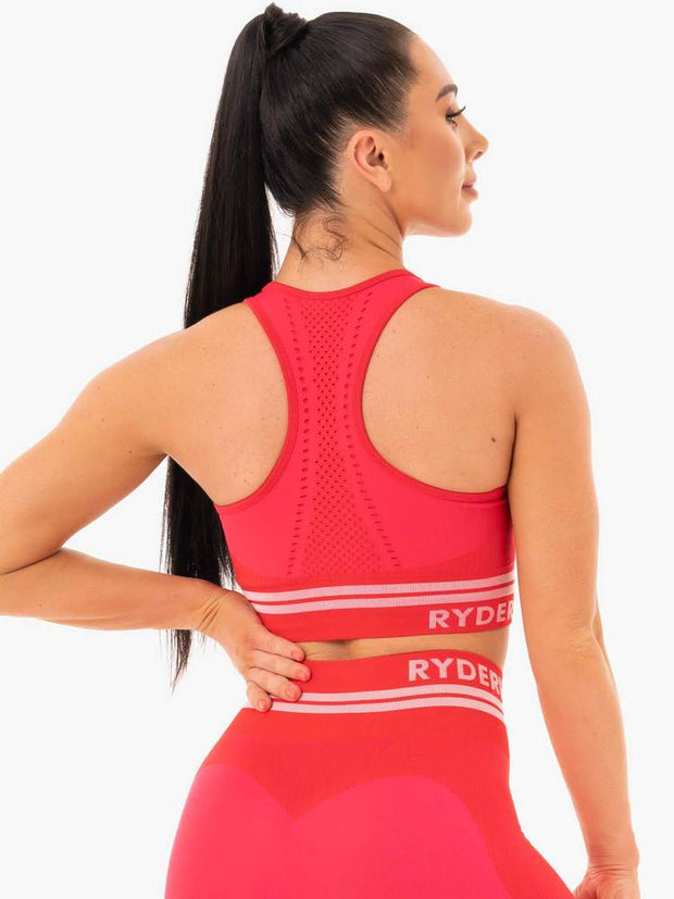 Ryderwear Freestyle Seamless Longline Sports Bra - Red