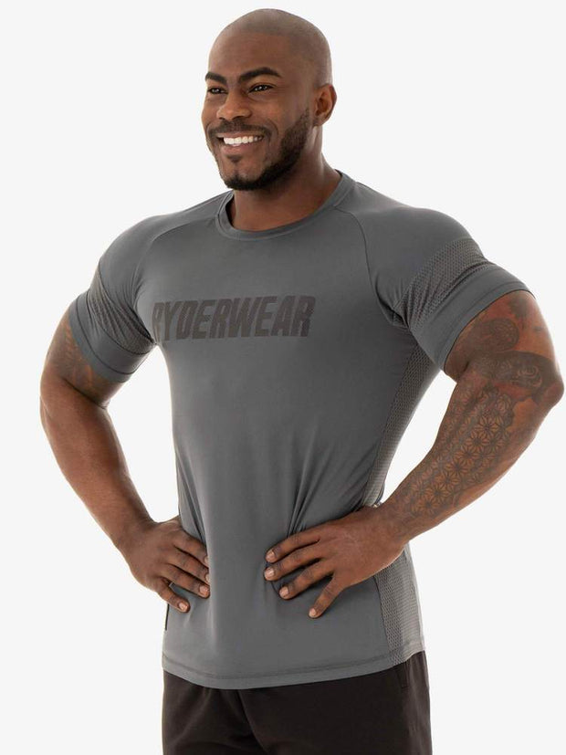 Ryderwear Flex Mesh T-Shirt - Charcoal