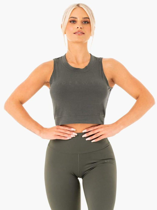 Ryderwear Motion Crop Top - Khaki