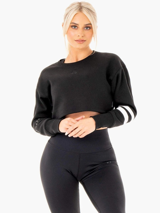 Ryderwear Motion Cropped Sweater - Black