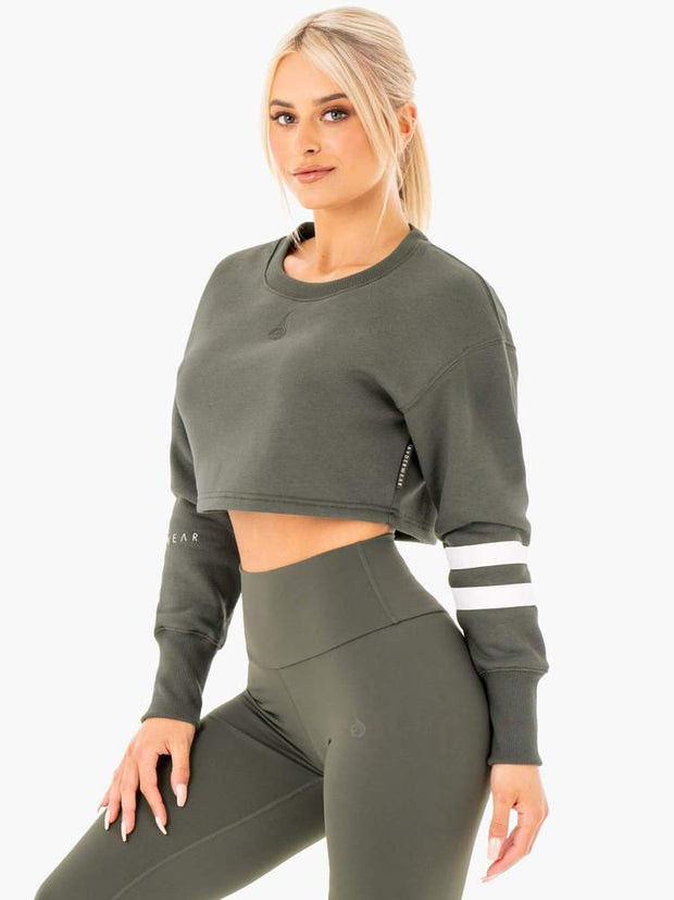 Ryderwear Motion Cropped Sweater - Khaki